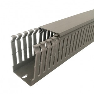 Canal cablu slitat 40 x 60 mm, 2 m, gri