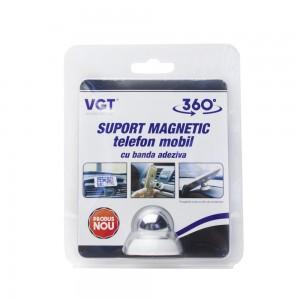 Suport magnetic pentru telefon, cu banda adeziva