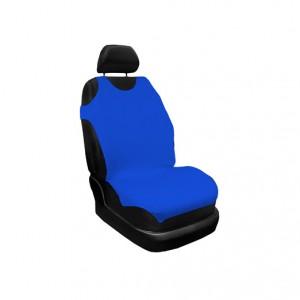 Huse auto pentru scaun, Carmax, albastru, tip maieu, universale, set 2 bucati