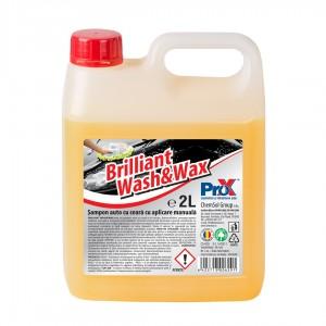 Sampon auto, cu ceara, Pro-X Brilliant wash&wax, 2 l