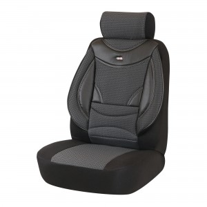 Huse auto pentru scaun, Otom Style 401, universale, negru + gri, set 15 piese