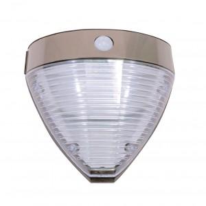Aplica solara transparenta LED Hoff, 2.2 W, cu senzor de miscare, 20.5 x 9.4 x 20 cm