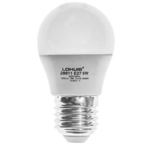 Bec LED Lohuis mini E27 6W lumina rece, dimabil