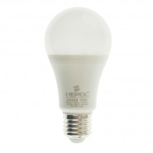 Bec LED Hepol clasic A60 E27 15W lumina calda