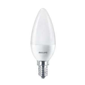 Bec LED Philips lumanare B38 E14 7W lumina neutra