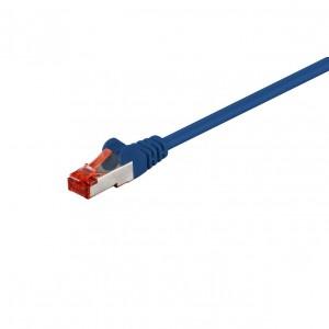 Cablu SFTP CAT6 mufat Hoff, LSZH, albastru, 10 m
