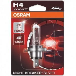 Bec auto Osram H4 Night Breaker Silver, P43T, 60/55 W, 12 V