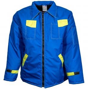 Haina de protectie Geocity Kora, fas impermeabil, albastru + galben, marimea L