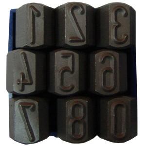 Poansoane, cifre 0 - 9, 10 mm, set 9 bucati