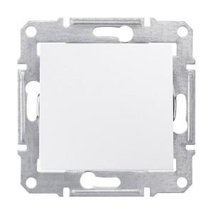 Intrerupator simplu Schneider Electric Sedna SDN0200221, incastrat, alb