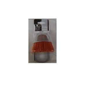 Perie cupa, cu alezaj, din nylon, pentru aluminiu / inox / metale moi, M14, diametru 80 mm