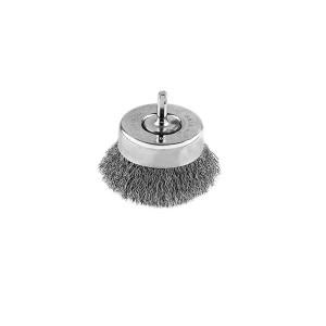 Perie cupa cu tija D50  5218G pentru otel inoxidabil, aluminiu