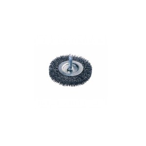 Perie circulara, cu tija, pentru inox / aluminiu, diametru 75 mm