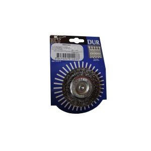Perie circulara cu tija D50 Inox 7159G pentru otel inoxidabil, aluminiu