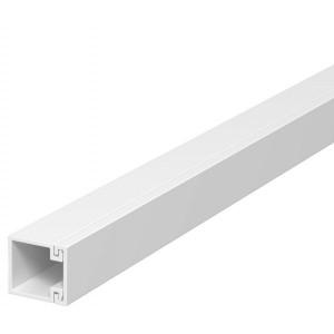 Canal WDK 6191037, 17.5 x 17.5 mm, cu capac, alb, PVC