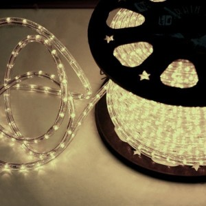 Cablu luminos Hoff alb interior / exterior 11 mm
