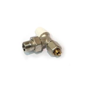 Robinet retur colt cu conector, pentru radiator, APE, 16 mm, D 1/2 inch