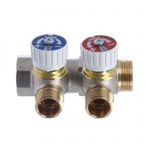 Distribuitor cu robinet, 2 x 3/4 inch, ICMA 227