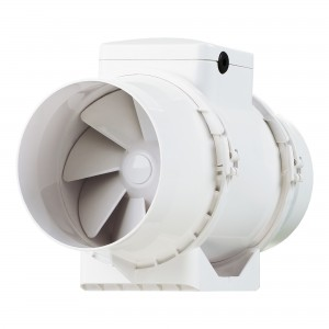 Ventilator plastic pentru tubulatura Vents TT 125, D 125 mm, 38 W, 1950/2455 RPM, 220 / 280 mc/h