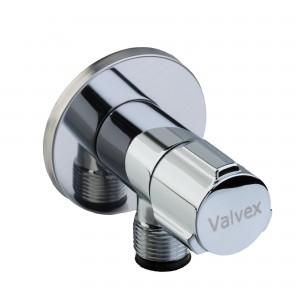 Robinet coltar crom, pentru instalatii apa si incalzire, cu cap ceramic, Valvex Star, 1482860, alama, D 3/8 - 1/2 inch