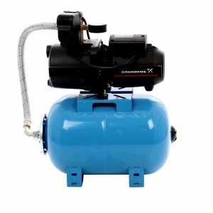 Hidrofor Grundfos JPA 4-47, cu pompa electrica centrifuga + rezervor 24 L + presostat + manometru + furtun flexibil + racord, 850 W