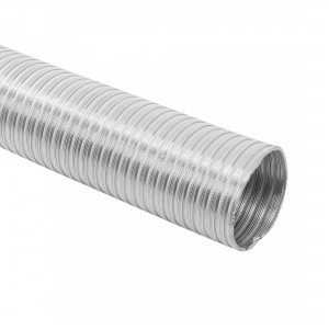 Tub flexibil, pentru tubulatura sistemelor de aerisire / climatizare, Vents, aluminiu, D 125 mm, extensibil 2 m