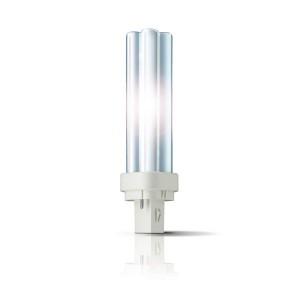 Bec economic G24d-1 Philips Master PL-C 2P 13W lumina calda