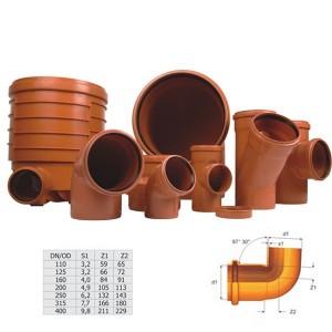 Cot PVC cu inel, 250 x 87 mm