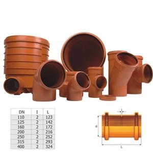 Mufa PVC D160 cu inel