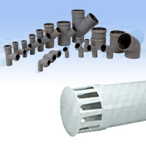 Piesa de capat PP, pentru coloana ventilatie, D 75 mm