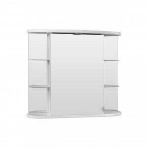 Dulap baie cu oglinda, iluminare si polite, 1 usa, Ronda, 80 x 24.5 x 69.5 cm