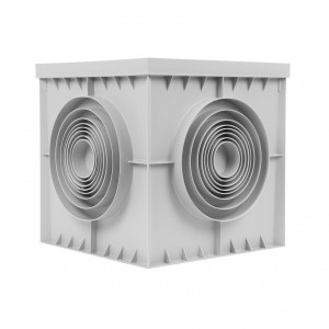 Camin colector, pentru scurgere si evacuare apa, monolitic, co-polimer, 400 x 400 mm