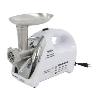 Masina de tocat Naumann NM-120, 1500 W, 1.5 kg/min, functie Reverse, alb