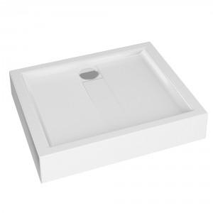 Cadita de dus rectangulara Martplast Toledo, alb, 100 x 80 cm