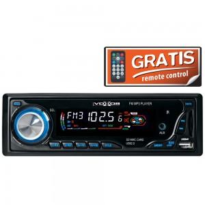 Radio MP3 player auto SAL VoxBox VB 2200, 4 x 25 W, 1 DIN, USB, SD / MMC, Aux in, functie Introscan, egalizator, telecomanda