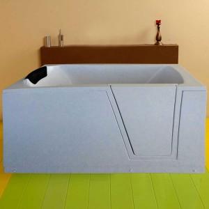 Cada baie rectangulara West Medica, pentru persoanele cu dizabilitati, acril, 150 x 70 x 106 cm