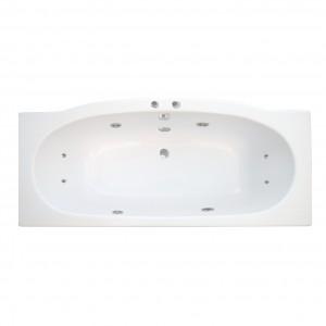 Cada baie cu hidromasaj rectangulara, Cassiopea, masca inclusa, acril, 180 x 80 cm