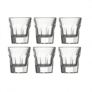 Pahar lichior, Casablanca, din sticla, 36 ml, set 6 pahare