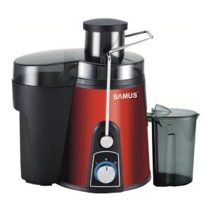 Storcator de fructe si legume Samus Twister, 800 W, 2 viteze, recipient pulpa 1.2 l, recipient suc 0.45 l, accesoriu impingere, rosu + negru