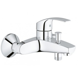 Baterie baie pentru cada / dus, Grohe Eurosmart New 3330002, montaj aplicat, monocomanda, finisaj cromat