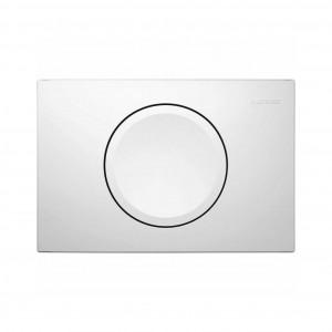 Placa actionare apa WC, Geberit Delta 115.120.11.1, alb