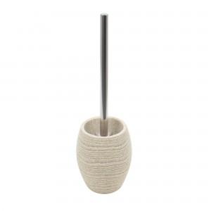 Perie WC Kadda Sand BPO-0375F-2, polirasina, crem, 12 x 12 x 40 cm