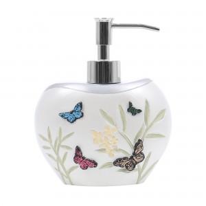 Dozator sapun lichid Kadda Butterfly BPO-1025A, alb, model cu fluturi