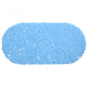 Covoras baie cu ventuze BPO-0615D, albastru, 35 x 70 cm