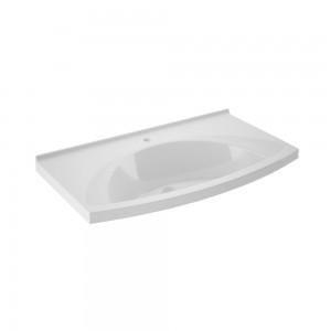 Lavoar din compozit, Martplast Clasic Breeze, alb, dreptunghiular, 90 cm