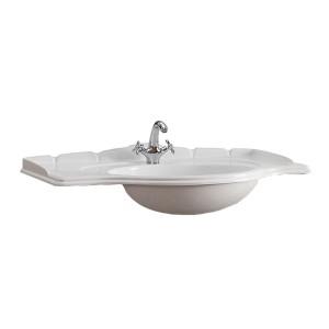 Lavoar din compozit, Martplast Clasic Bari, alb, rotunjit, 110 cm