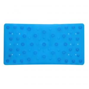 Covoras baie cu ventuze BPO-0846-3-2, albastru, 35 x 70 cm