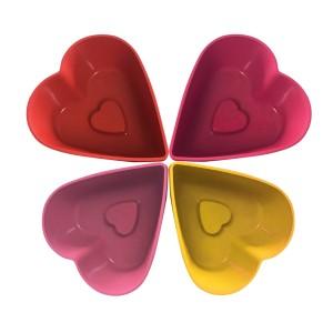 Forme briosa, inima, MYS 107, silicon, diverse culori, 6 buc