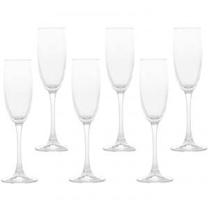 Pahar sampanie, 44688, din sticla, 175 ml, set 6 bucati