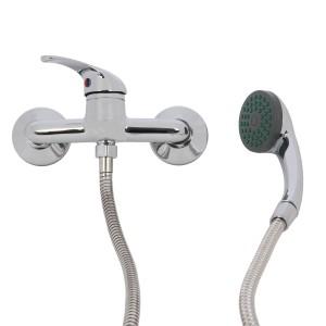Baterie baie, pentru dus, Kadda My3555 - 7, monocomanda + accesorii, montaj aplicat, finisaj cromat
